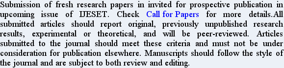 Submission of fresh research papers in invited for prospective publication in upcoming issue of I...